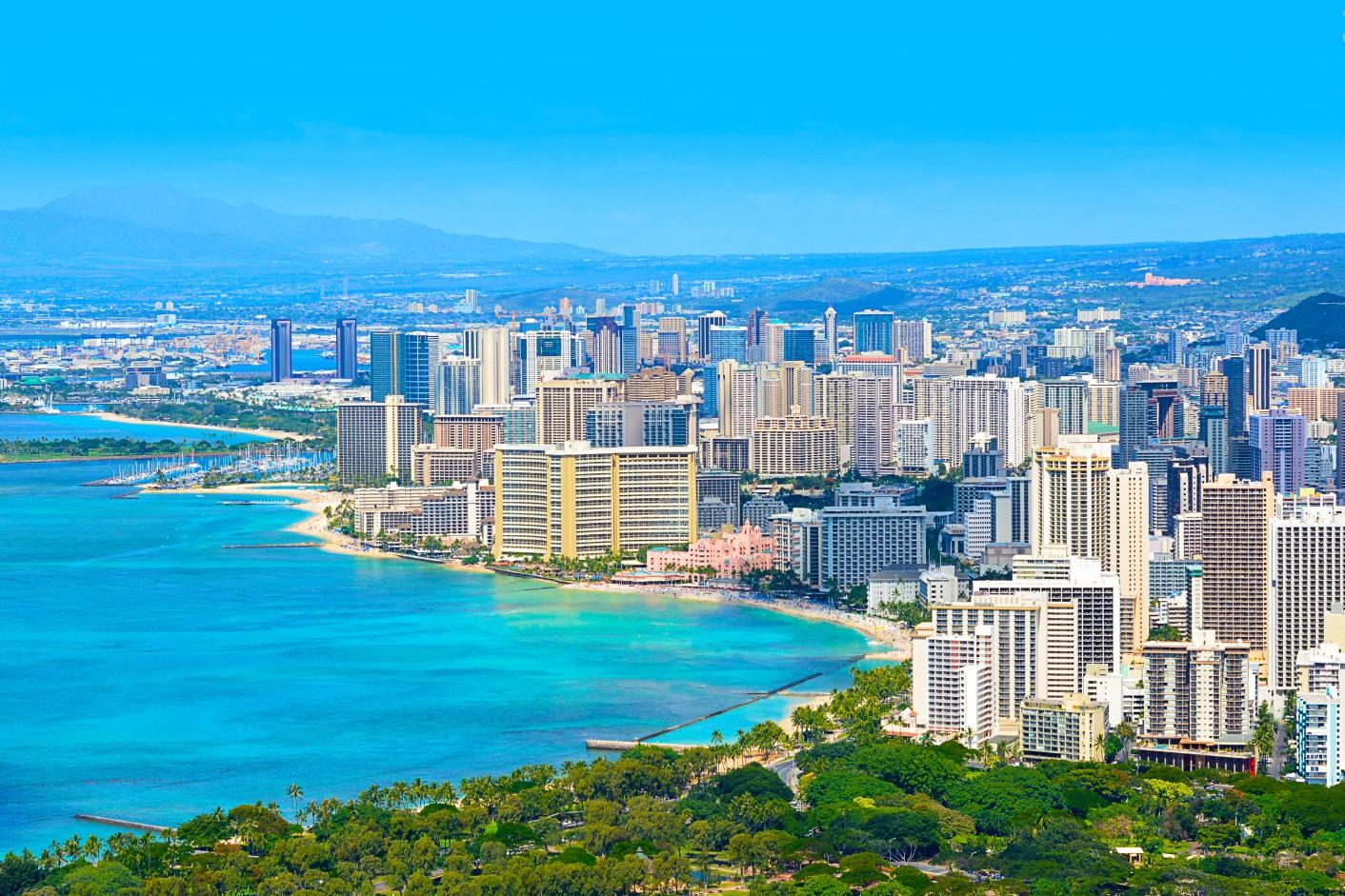 Waikiki beach honolulu Hawaï