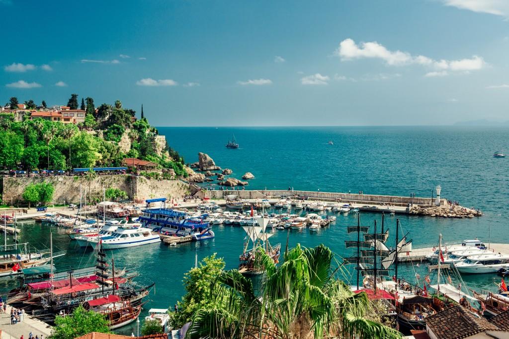 Le port d'Antalya (Turquie)