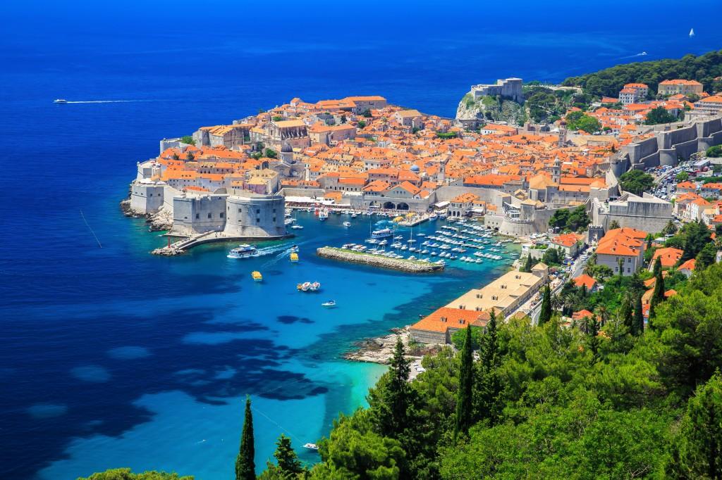 Vue sur la ville de Dubrovnik