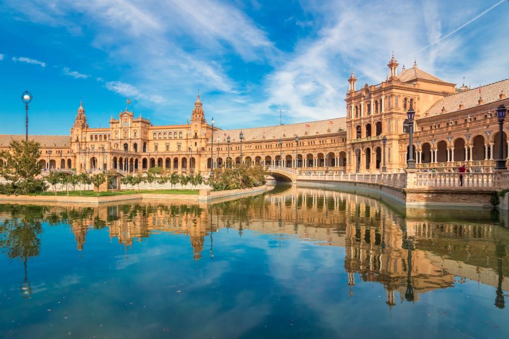Place d'Espagne a Seville (Espagne)