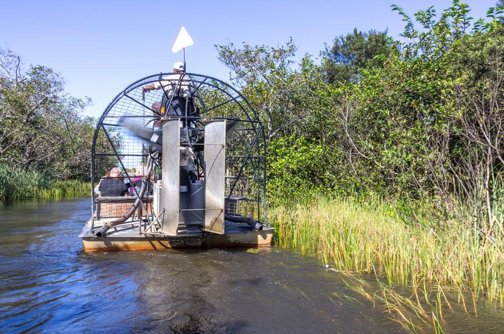 Hydroglisseur dans les Everglades, Floride