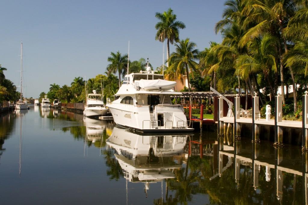 Un canal de Fort Lauderdale ( Floride)