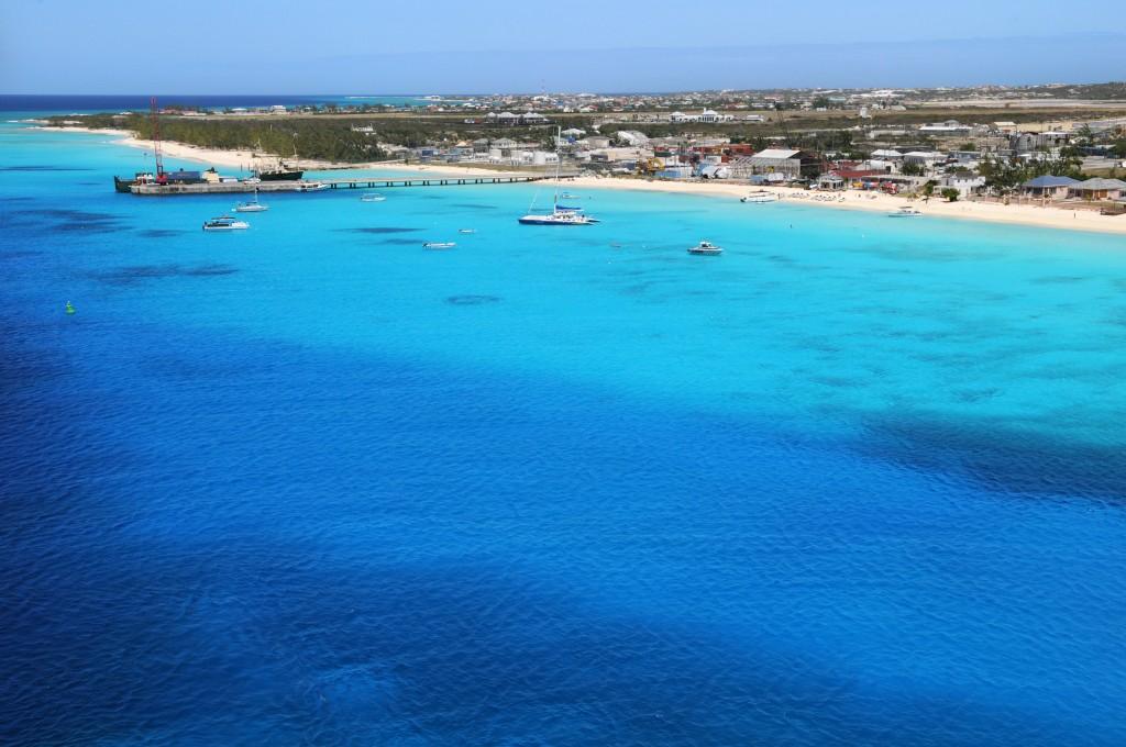 Vue sur Grand Turk, Iles Turks et Caicos